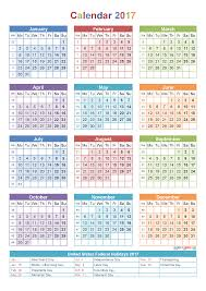 yearly calendar 2017 template 2017 printable yearly calendars with holidays yearly calendar 2017