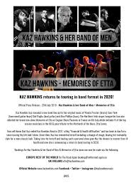 Press Release Format 2020 Returning To Band Format In 2020 Kaz Hawkins