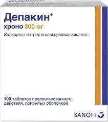 Купить <b>Депакин хроно</b> таб п/об пролонг. <b>300мг</b> 100 шт (вальпроат ...