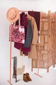diy copper garment rack diy garment rack modern organization