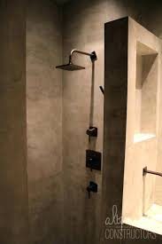 inall concrete shower walls wall ideas