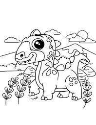 Ran an die buntstifte und wachsmalkreiden. Ausmalbild Dinosaurier Kind Zum Ausdrucken
