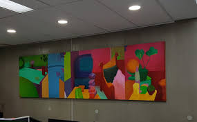 artwork for the office. Corporate Art Rentals Recently Installed This Bright And Colourful Painting In The General Office Area At Rollease Acmeda\u0027s Impressive Facility Brunswick Artwork For