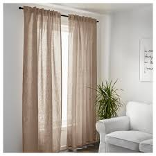 Curtain Attractive Design Ideas Beige Linen Curtains AINA Curtains 1 Pair  Grommet Curtain Panels With Brown