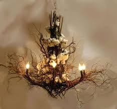 tree branch chandelier decor chandeliers fireflies wooden lamp