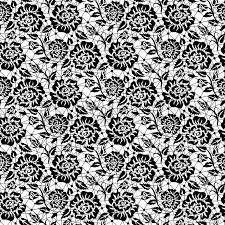seamless black lace background with roses pattern stock vector colourbox