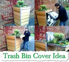 hide garbage cans something to trash outdoor screen can outside ubuntu your outsid