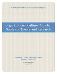 Pdf Organizational Culture A Global Survey Of Theory And