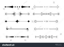 Divider Graphic Design Big Vector Set Calligraphic Graphic Design Stock Vector