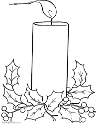 Small Picture Candle printable free coloring pages digital stamps holiday