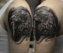 фото тату на плече орел