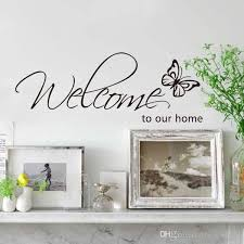 best s english welcome home erfly wall stickers window stickers decorative glass door stickers decorations
