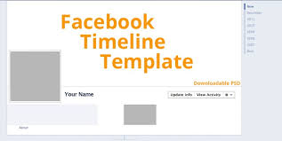 facebook timeline cover template with able psd