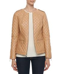 Neiman Marcus Quilted & Studded Leather Jacket &  Adamdwight.com