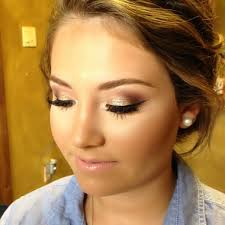 homeing makeup would look beautiful with your face your dress