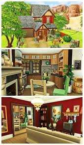 Sims Interior Design Game Sims 4 Cottage House Speed Build Download Gaming Sims