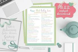 Free Printable Baby Shower Guest List Delectable Baby Shower Games Archives Tulamama