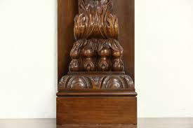 item 26153 a spectacular solid oak fireplace mantel