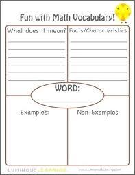 Blank Vocabulary Worksheet Template Esl Vocab Worksheets Math 8 Blank Vocabulary Worksheet