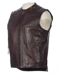 bootlegger leather motorcycle vest