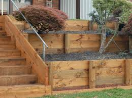 Small Picture How to Build a Retaining Wall with wood For the Home Pinterest