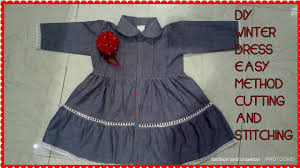 Baby Frock Design 2018 Cutting Diy Casual Comfortable Baby Girl Frock Design In Winter Cotton Frock In Kids Collection 2018 2019