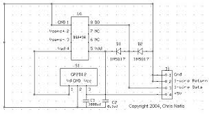 1 wire water level measurement sensor water level sensor schematic