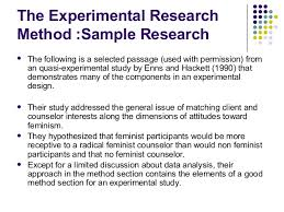 quasi experimental research paper apa business research paper example