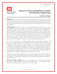 Basics of physical modeling in coastal and hydraulic engineering ...