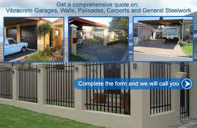 Small Picture Vibracrete Walls Garages ExtensionsPalisade FencingSliding