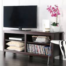 Large Screen Tv Stands Wood Tv Stand For Tvs Up To 60 Espresso Walmartcom