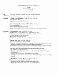 Sample Resume For Graduate School Application Inspirational New