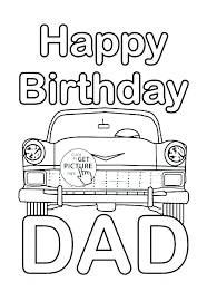 black and white printable birthday cards happy birthday cards coloring pages printable birthday card for dad
