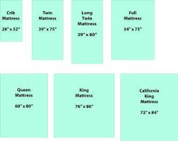 Crib Mattress Size Chart Compare Mattress Sizes Before You Make A Quilt Mattress