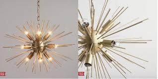 collin starburst chandelier world market