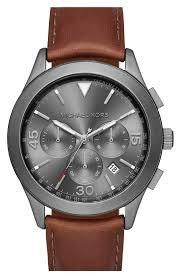 michael kors gareth chronograph leather strap watch 43mm michael kors gareth chronograph leather strap watch 43mm nordstrom