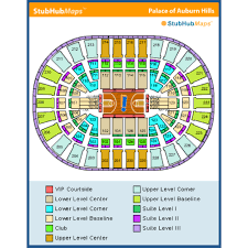 Palace Of Auburn Hills Seating Chart With Rows Palace Of Auburn Hills Seat Chart United Palace Seating