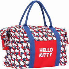 o kitty makeup bag lovely o kitty red white and blue heads overnighter