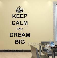 details about keep calm dream big wall e decals sticker decor vinyl diy home art mural