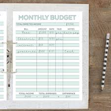 Monthly Bill Budget Budget Planners 11 Free Awesome Planners To Balance The Budget
