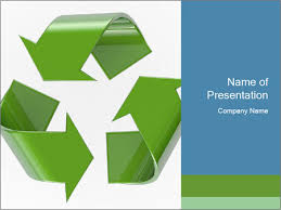 Recycling Symbol Powerpoint Template Infographics Slides