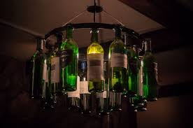 wine bottle chandelier light lighting decor usa pendant style