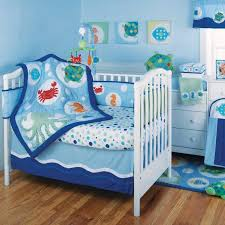 ocean crib bedding blue marine