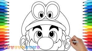 How To Draw Super Mario Odyssey 5 Drawing Coloring Pages For Kids