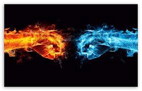 Download Fire Fist vs Water HD Wallpaper ❤ 4K Desktop for Ultra