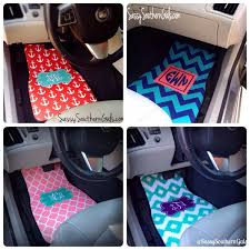 Wonderful Car Floor Mats For Women New To Sassysoutherngals On Etsy Monogrammed And Simple Design