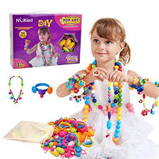 Snap Pop Beads Girls Toy - Happytime 180 Pieces DIY Jewelry Kit Fashion Fun for Necklace 3 Year Old Girl Gifts: Amazon.com