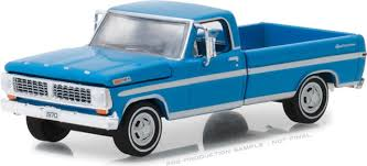 1970 Ford F100 Explorer Special Long Bed Pickup Truck Blue 1/64 ...