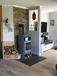 Kamin Brennholzablage Und Trennwand Mit Naturschiefer