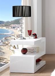 White High Gloss Living Room Furniture Uk Modern Side Or Lamp Z Table In White High Gloss